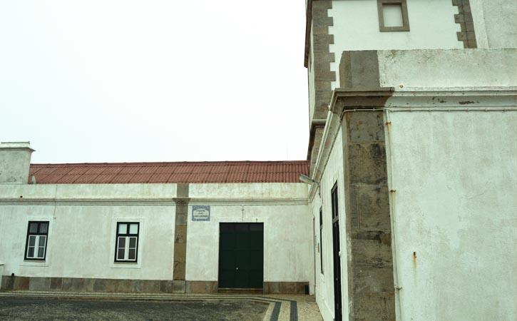 Farol do Cabo Carvoeiro, Peniche pormenor da fachada